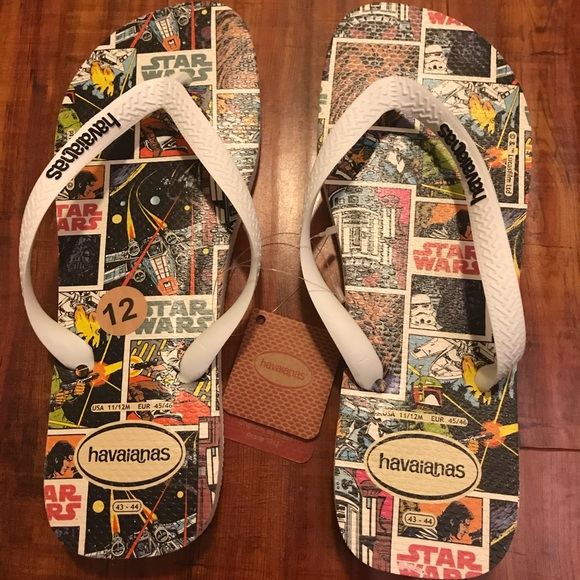 158803f84a1c1e Havaianas Star Wars Flip Flop White Size 12 New